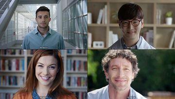 不同肤色的人微笑视频素材下载