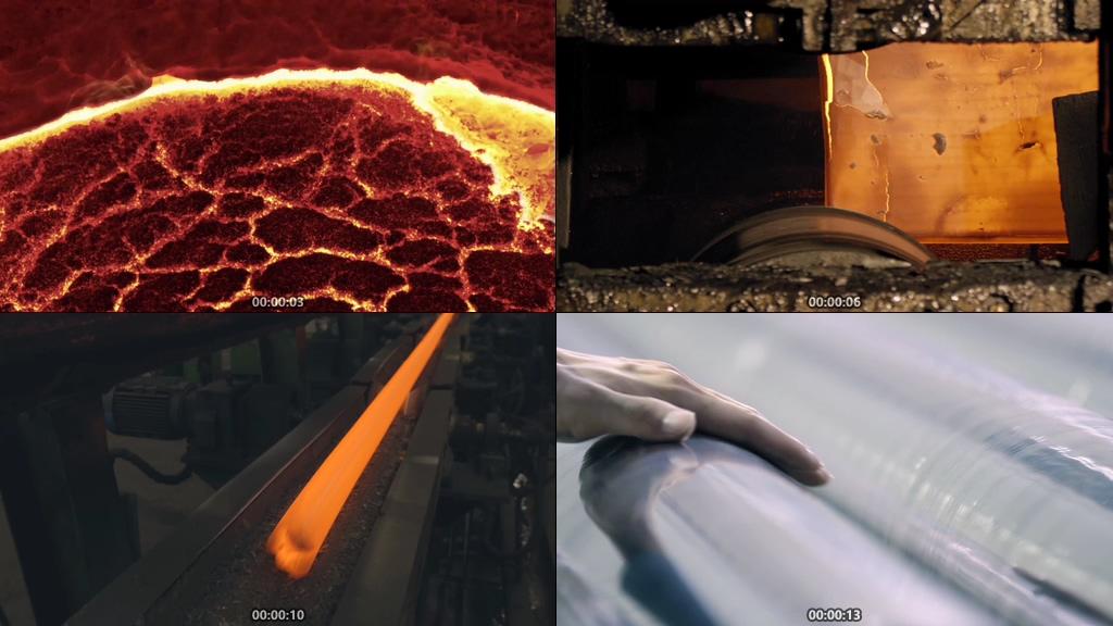钢铁工业炼钢视频素材下载
