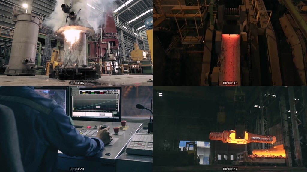 钢铁场视频素材下载