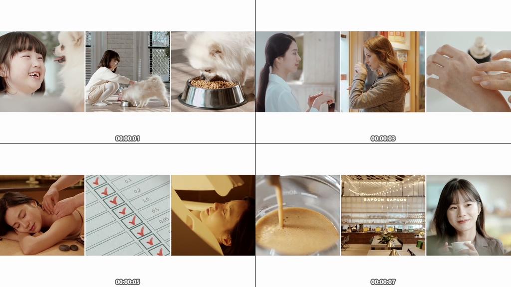 化妆品画面拼接视频素材下载
