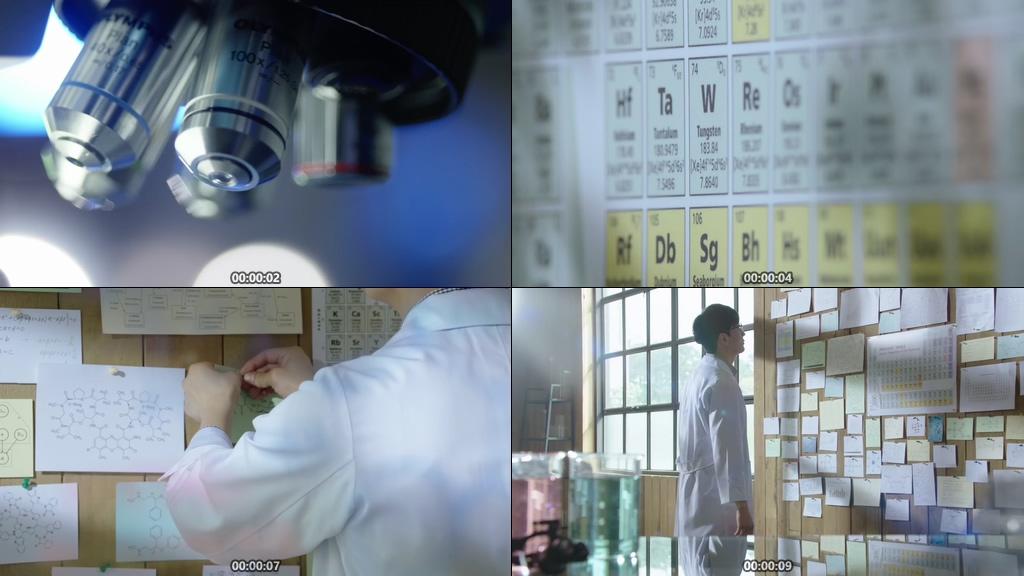 科学家视频素材下载