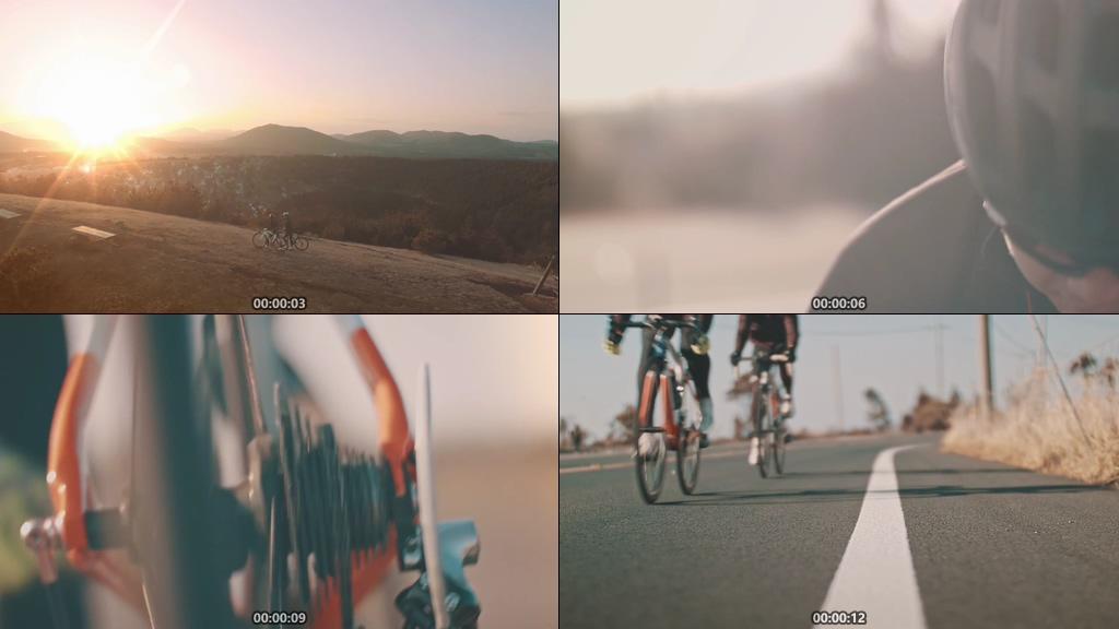 骑自行车视频素材