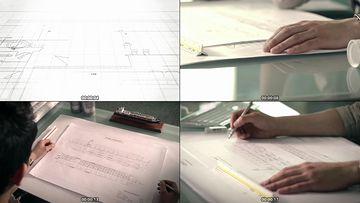 设计图纸视频素材免费下载