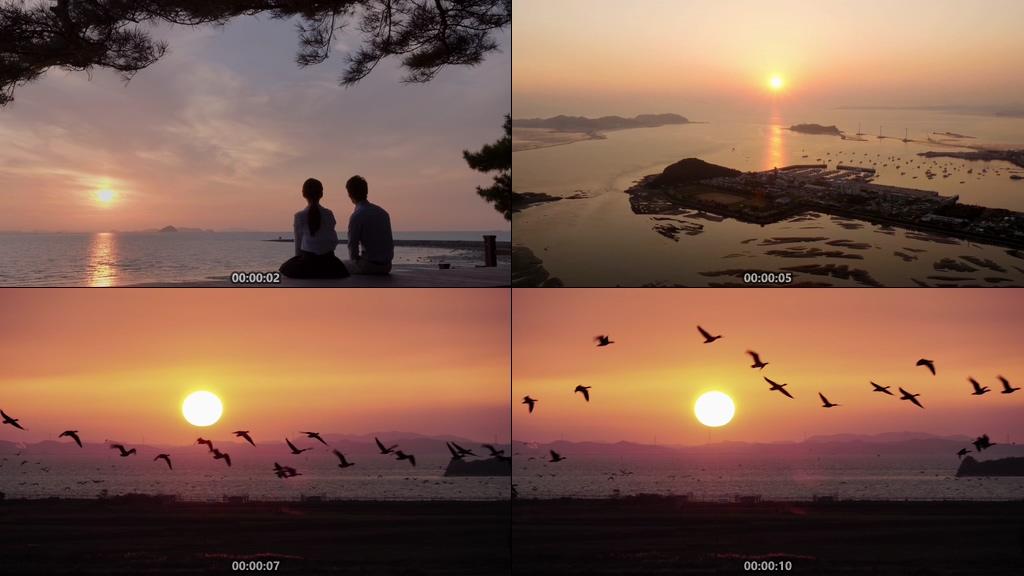 诗和远方面朝大海视频素材