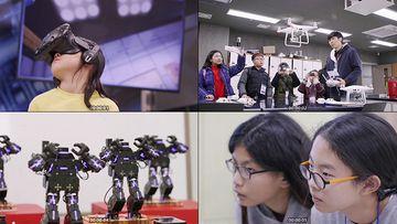 小学生科技实验视频素材