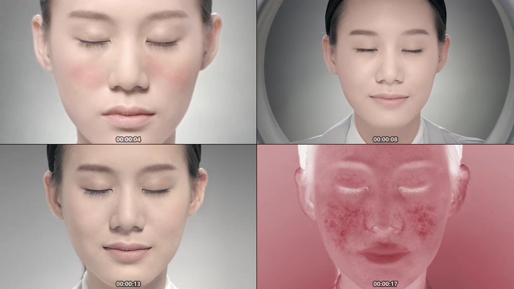 皮肤红血丝视频素材