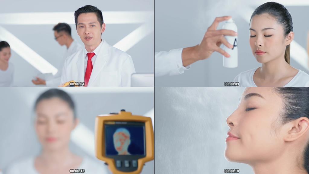 皮肤专家视频素材