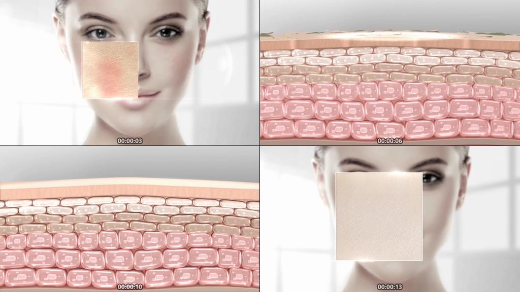 修复受损肌肤动画视频素材