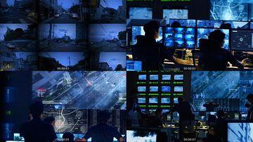 5G大数据监控视频素材