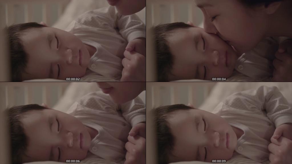 亲吻宝宝视频素材
