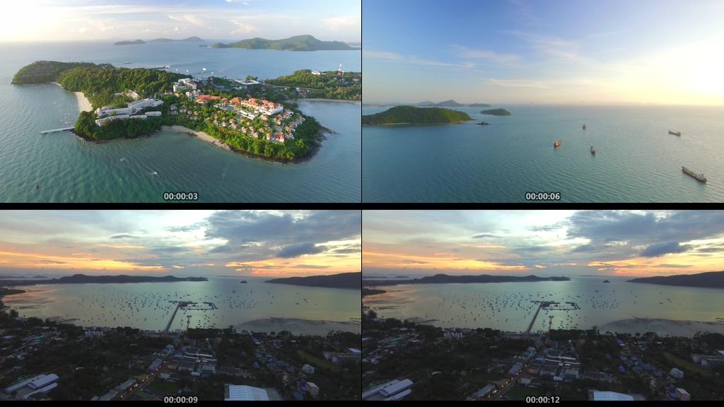 泰国度假村小镇视频素材