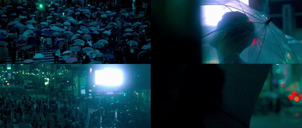 下雨天打伞视频素材