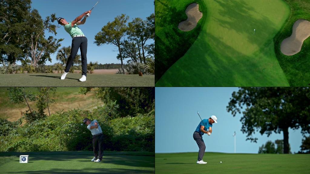 4K打高尔夫球视频素材