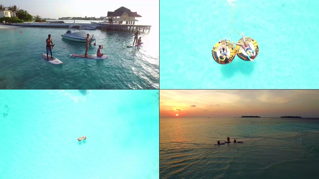 4K马尔代夫视频素材下载