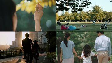 公园散步视频素材