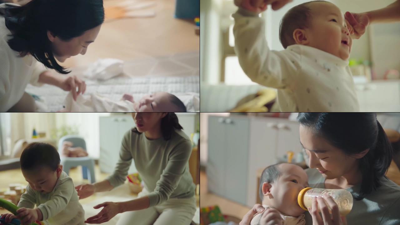 带宝宝的妈妈视频素材