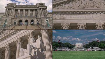 4K美国华盛顿国会大厦视频素材
