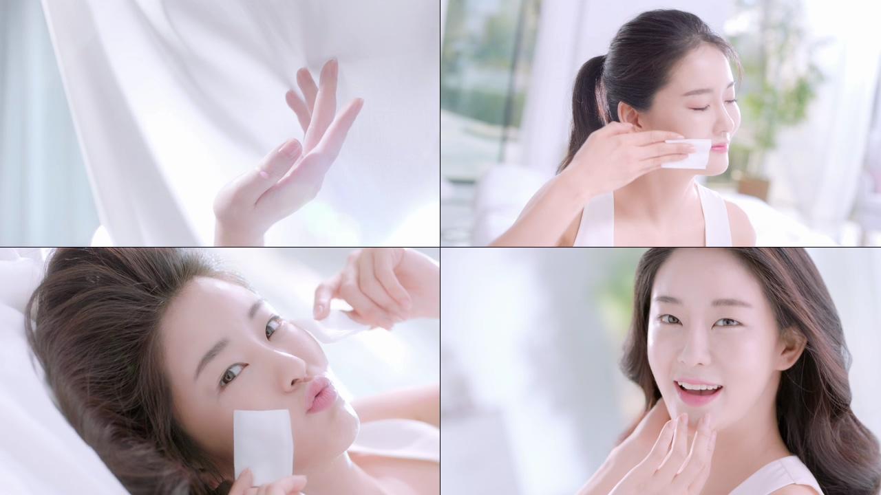 化妆棉视频素材