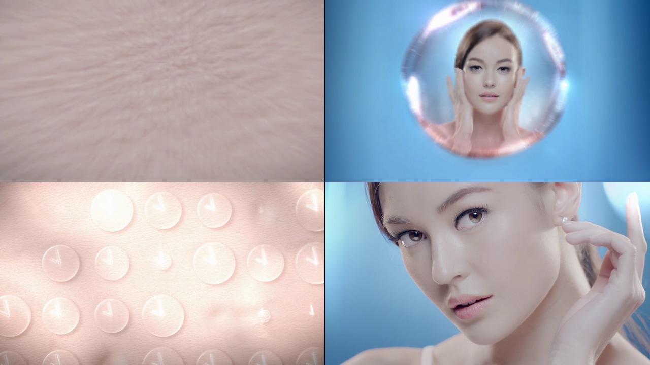 皮肤缺水补水动画演示视频素材