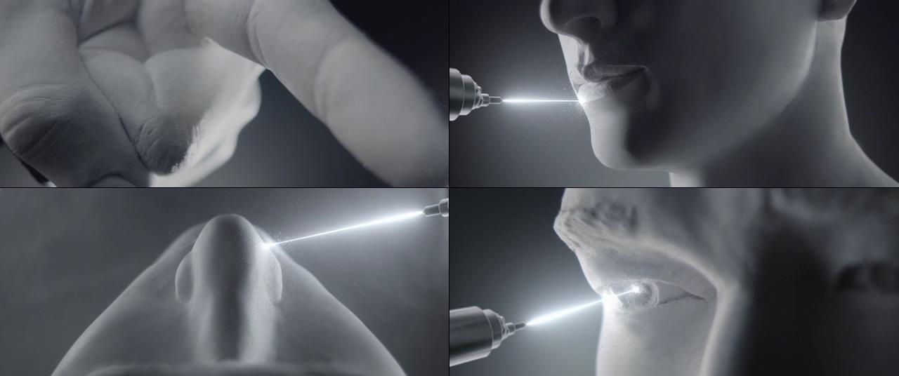 精雕细琢的五官视频素材