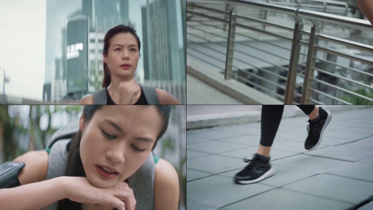跑步的女人视频素材下载