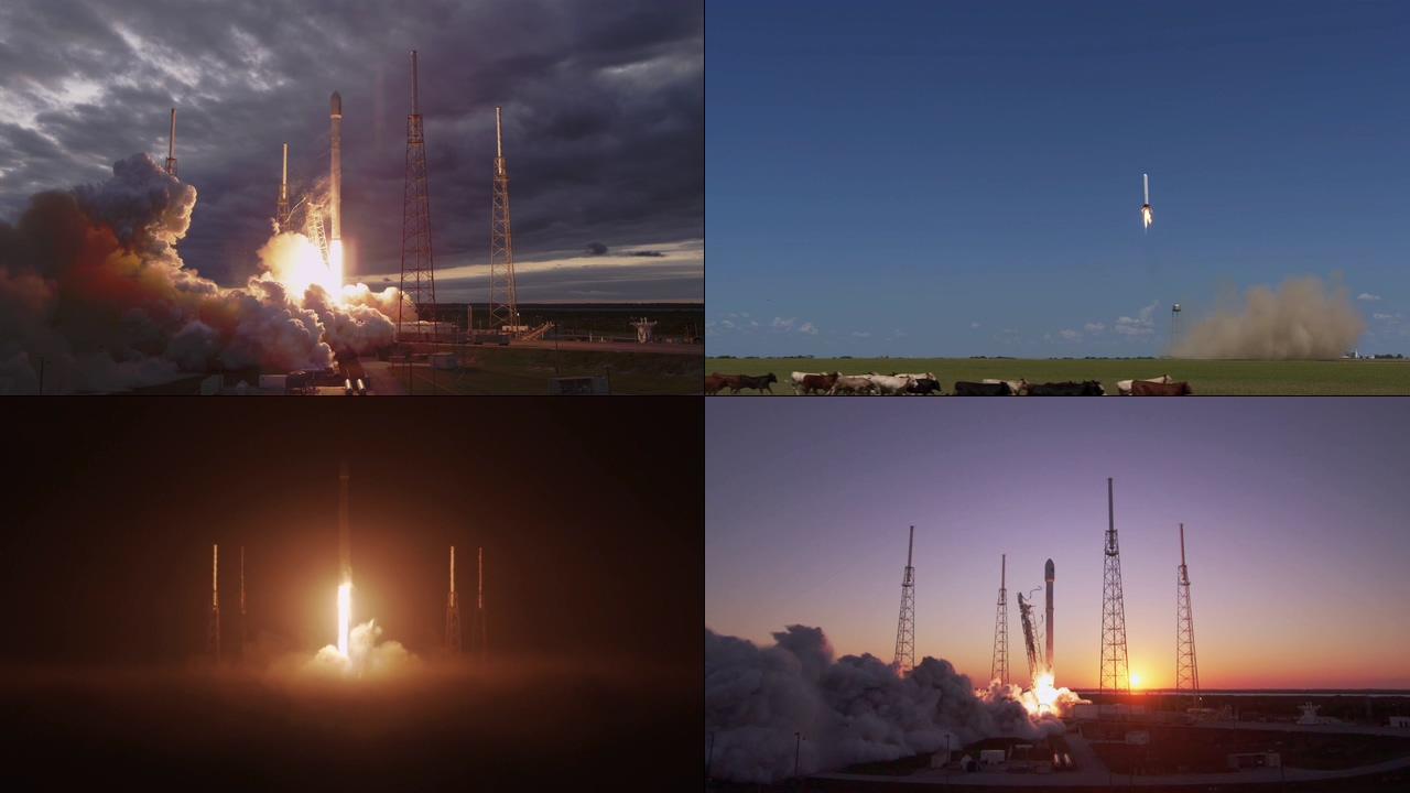 4K卫星发射视频素材