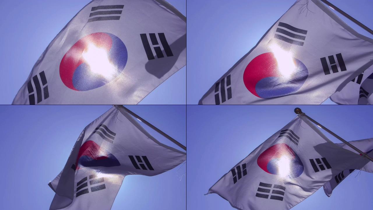 4K韩国国旗视频素材