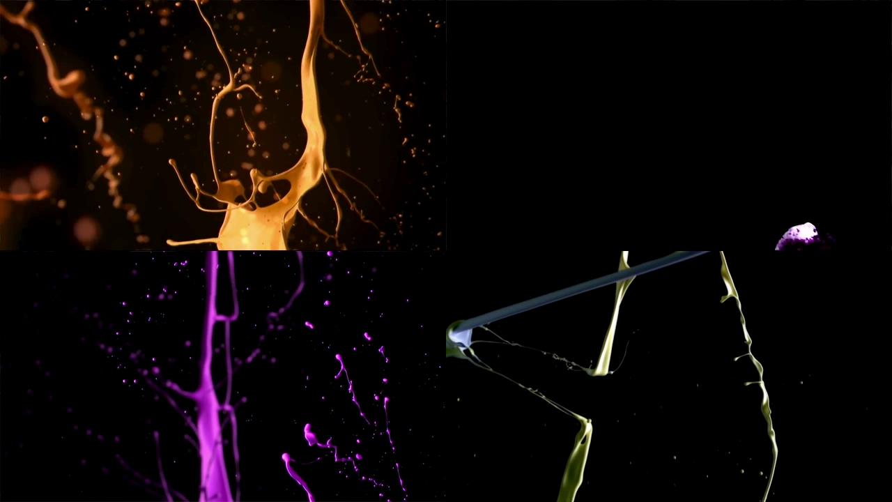 彩妆粉底液飞溅视频素材