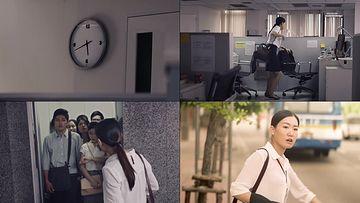 女白领下班赶时间视频素材