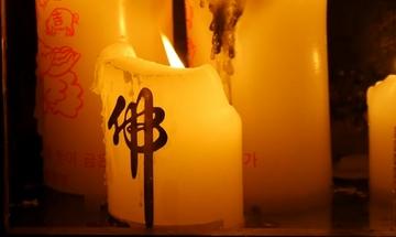 4K在燃烧的蜡烛