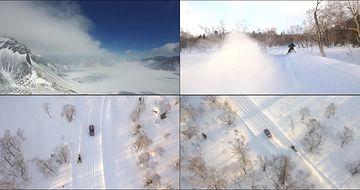 冬天里的长白山
