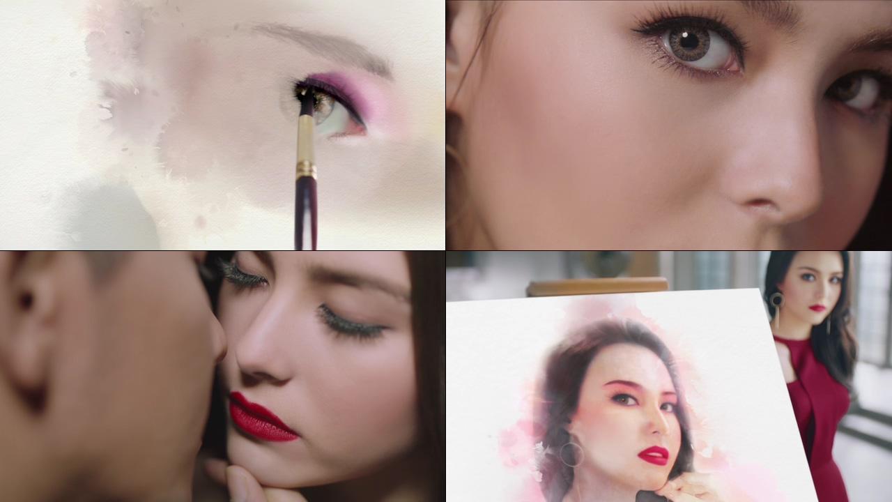 美妆画画里的气质美女