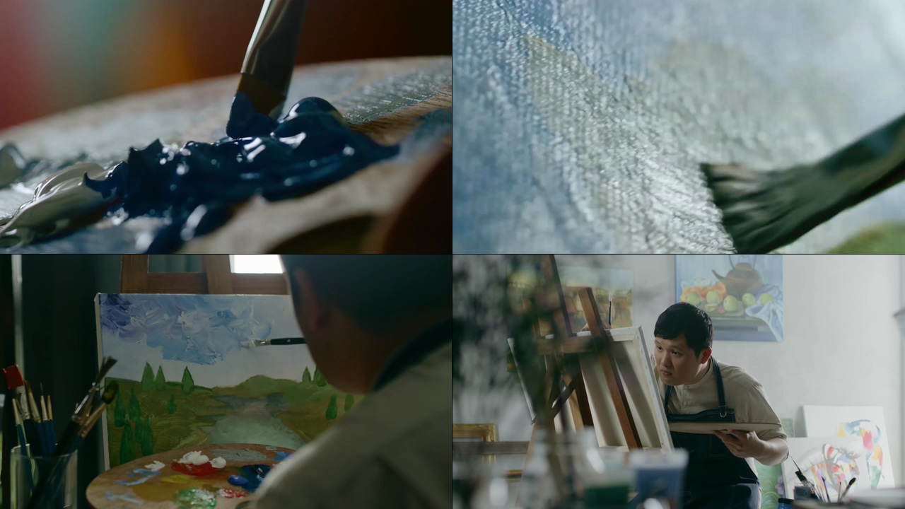 画油画视频素材