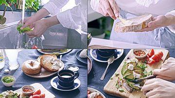 洗菜做饭的居家妇女视频素材