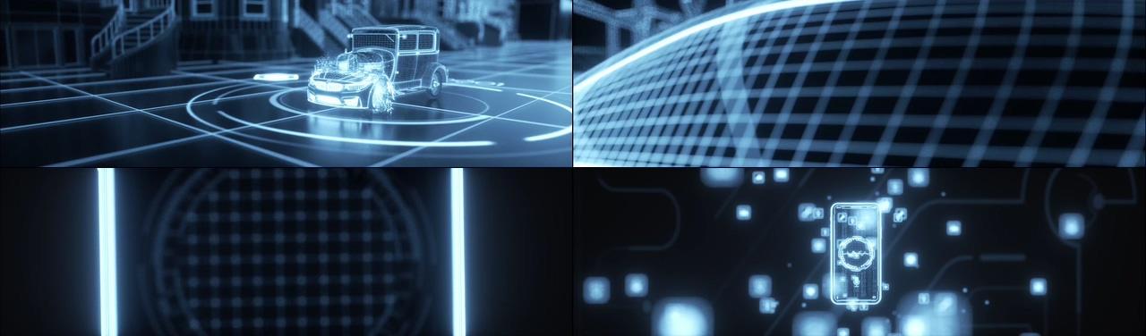 5G物联网无人驾驶汽车视频素材