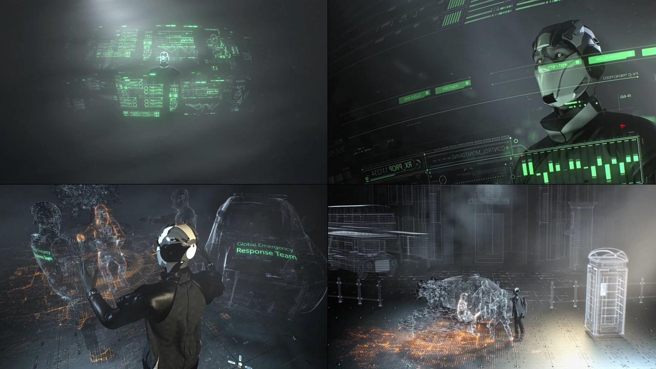 AI机器人视频素材