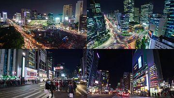 韩国首尔城市夜景视频素材