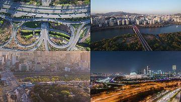 韩国立交桥视频素材