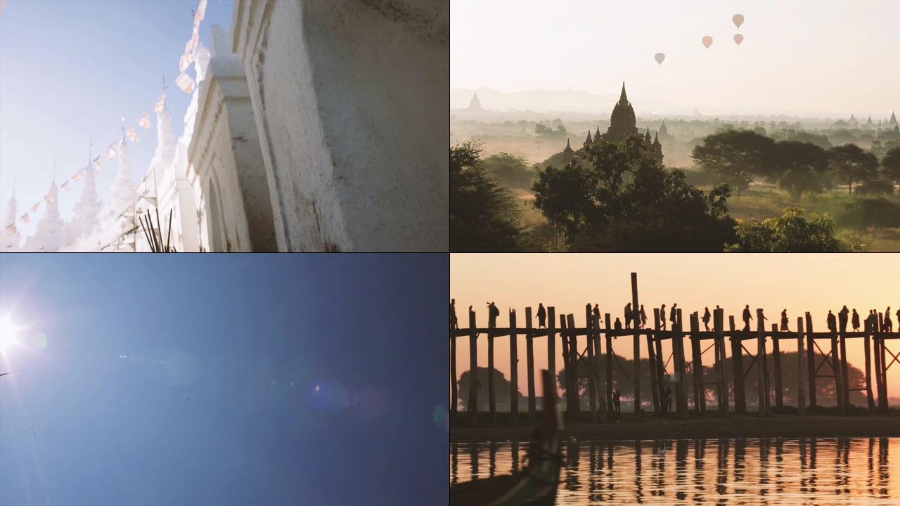 缅甸人文佛教视频素材