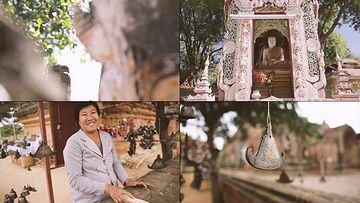 缅甸金塔佛像视频素材