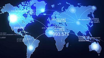 世界地图视频素材