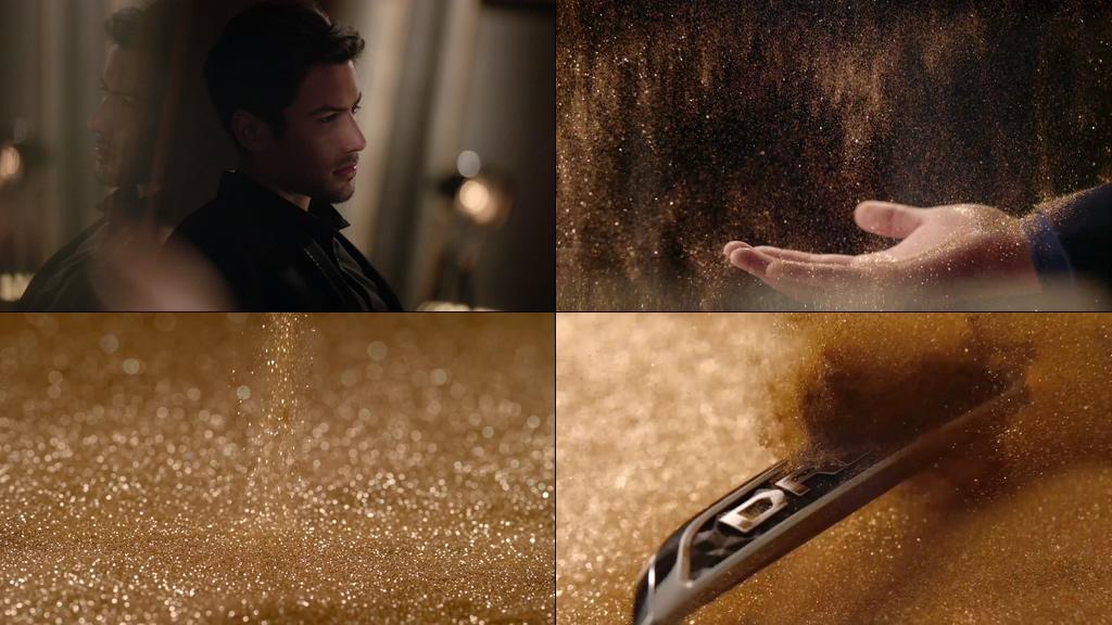 成熟男和金粉视频素材
