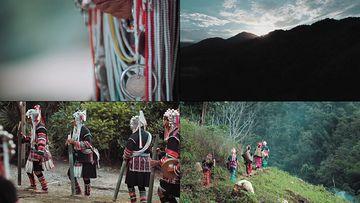 居住在深山里的少数名族视频素材