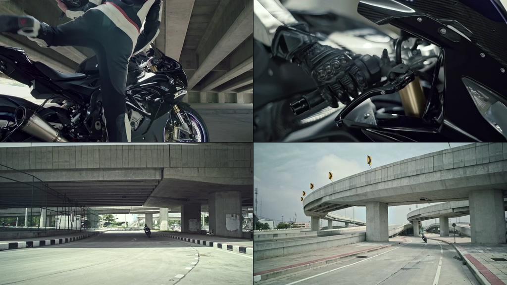 酷酷的女生飙摩托车视频素材