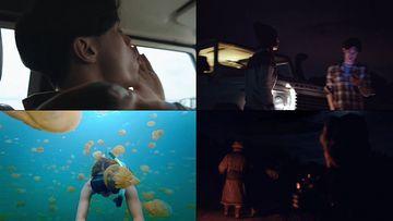 旅途的情侣自由自在视频素材