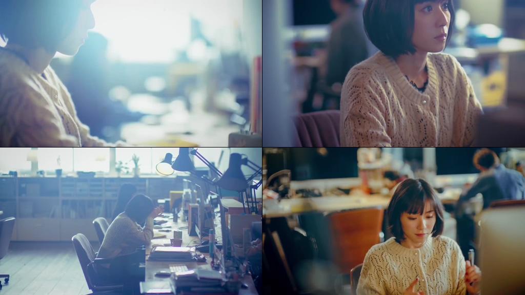 公司里打字的美女视频素材
