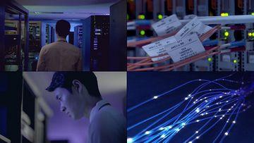 5G光纤视频素材