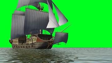 从远处驶来的轮船