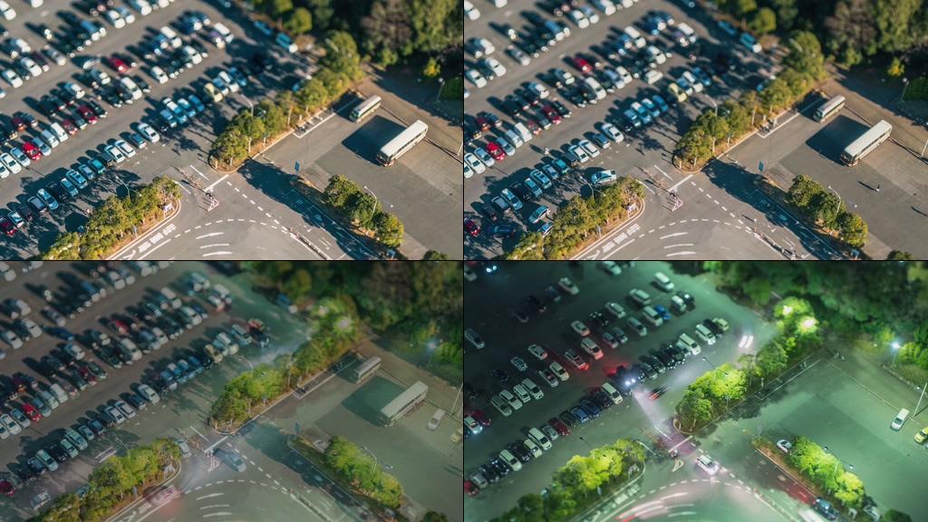 停车场视频素材