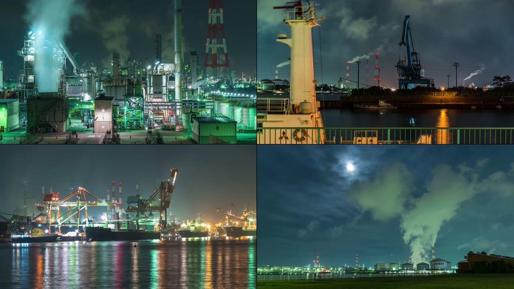 化工厂废弃排放视频素材
